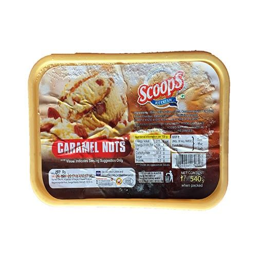 Scoops Ice Cream - Nutty Caramel Nuts, 4 ltr