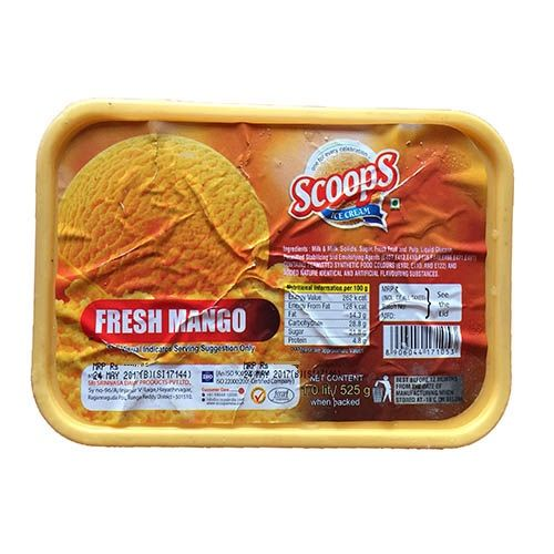 Scoops Ice Cream - Fruit Fresh Mango, 4 L