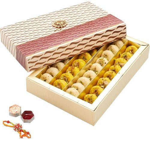 Raksha Bandhan Store Celebration Assorted Peda Box - With Rakhi, Roli &  Tikka, 250 g