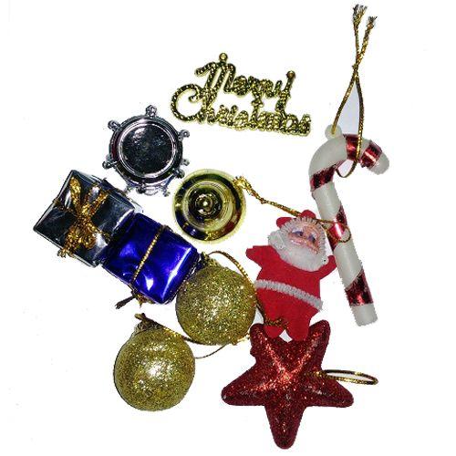 Vidya Decorations Christmas Special - Assorted Tree Decoration Mini, 10 pcs
