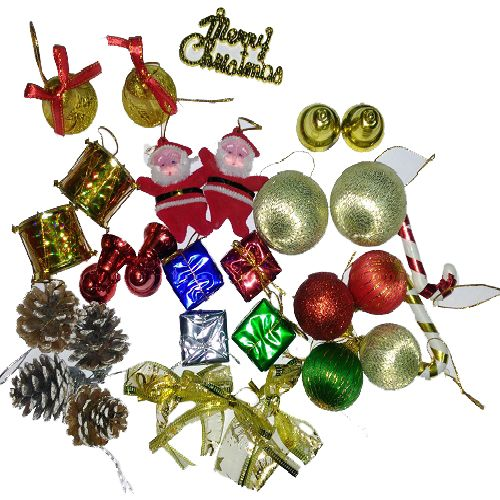 Vidya Decorations Christmas Special - Assorted Tree Decoration Large, 26 pcs
