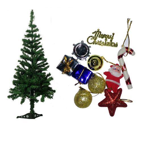 Vidya Decorations Combo - Christmas Tree 1 Feet & Assorted Tree Decoration Mini, 2 pcs 2 Pack Combo
