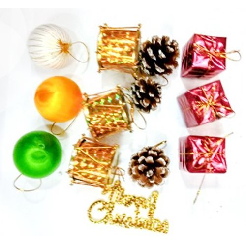 Shraddha Extension Christmas Special - Assorted Tree Decoration Small, 13 pcs