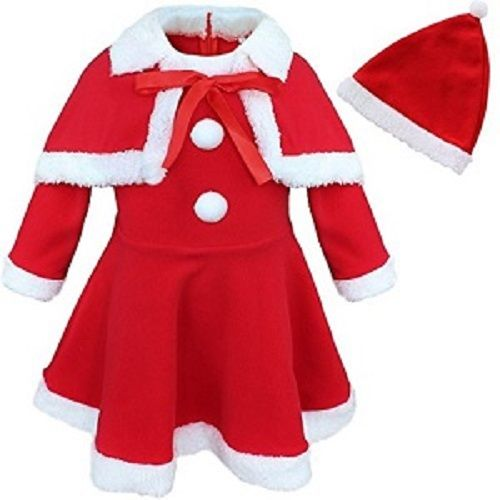 Bhagwan Decorations Santa Guddu Dress For Girls Age 4-6, 1 pc