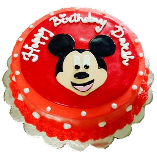 Prime Buy Cake Fite Fresh Cake Mickey Mouse Online At Best Price Birthday Cards Printable Trancafe Filternl