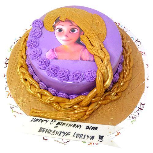 Buy Cake Square Designer Cakes Barbie Girl Theme Strawberry