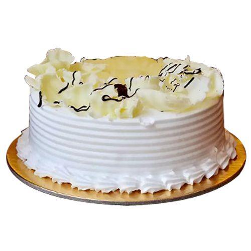 fnp Cakes n More Fresh Cake , Pineapple, Eggless, 450 g