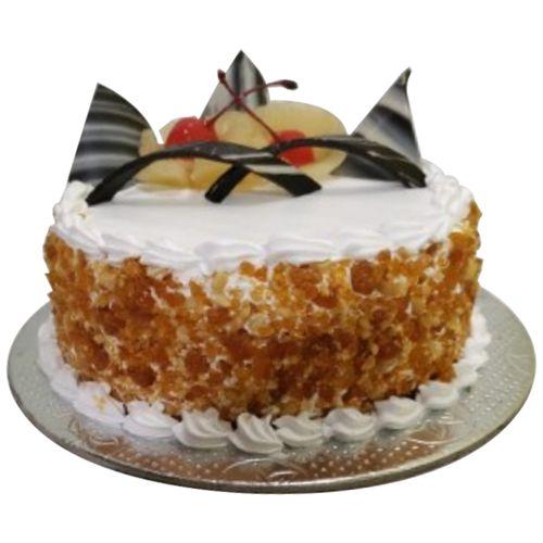 Bakers home Fresh Cake - Crunchy Pineapple, Eggless, 1 kg