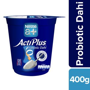 Nestle A+ ActiPlus Dahi - Probiotic Curd, 400 g Cup
