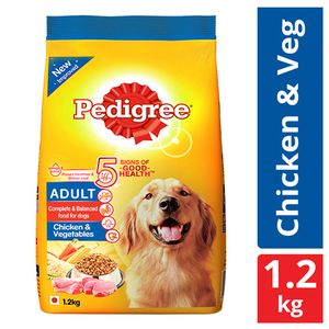 Buy Pedigree Daily Food For Adult Dogs Chicken And Vegetables 12 Kg