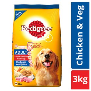 Buy Pedigree Daily Food For Adult Dogs Chicken Veg 3 Kg Online At