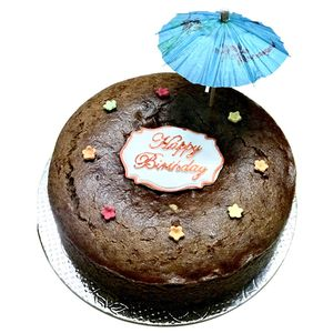 Buy Bhealthy Walnut Birthday Cake Organic Jaggery Wholewheat Eggless Sugarfree 500 Gm Online At Best Price