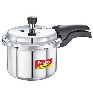 4580e580ca0 Prestige Dlx Plus Aluminium Induction Base Pressure Cooker, 3 L
