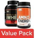 Optimum Nutrition Whey Protein Powder - 100% Double Rich Chocolate 5lb + Orange Drink Cooler 270G
