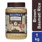 Daawat  Basmati Rice/Basmati Akki - Brown (Quick Cooking) 1 kg Jar