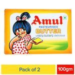 Amul Butter - Pasteurized 2x100 g Multi Pack