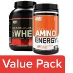 Optimum Nutrition Whey Protein Powder - 100% Double Rich Chocolate 5lb + Orange Drink Cooler 270G