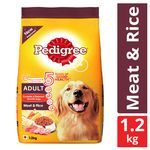 Pedigree Dry Dog Food - Meat & Rice, For Adult Dogs 1.2 kg