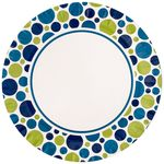 Origami Printed Paper Party Plates - 19 cm