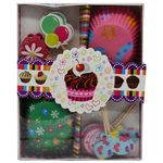 DP Mould Gift Set - Paper Baking Cups, Muffins/Cake, with Toppers Sticks