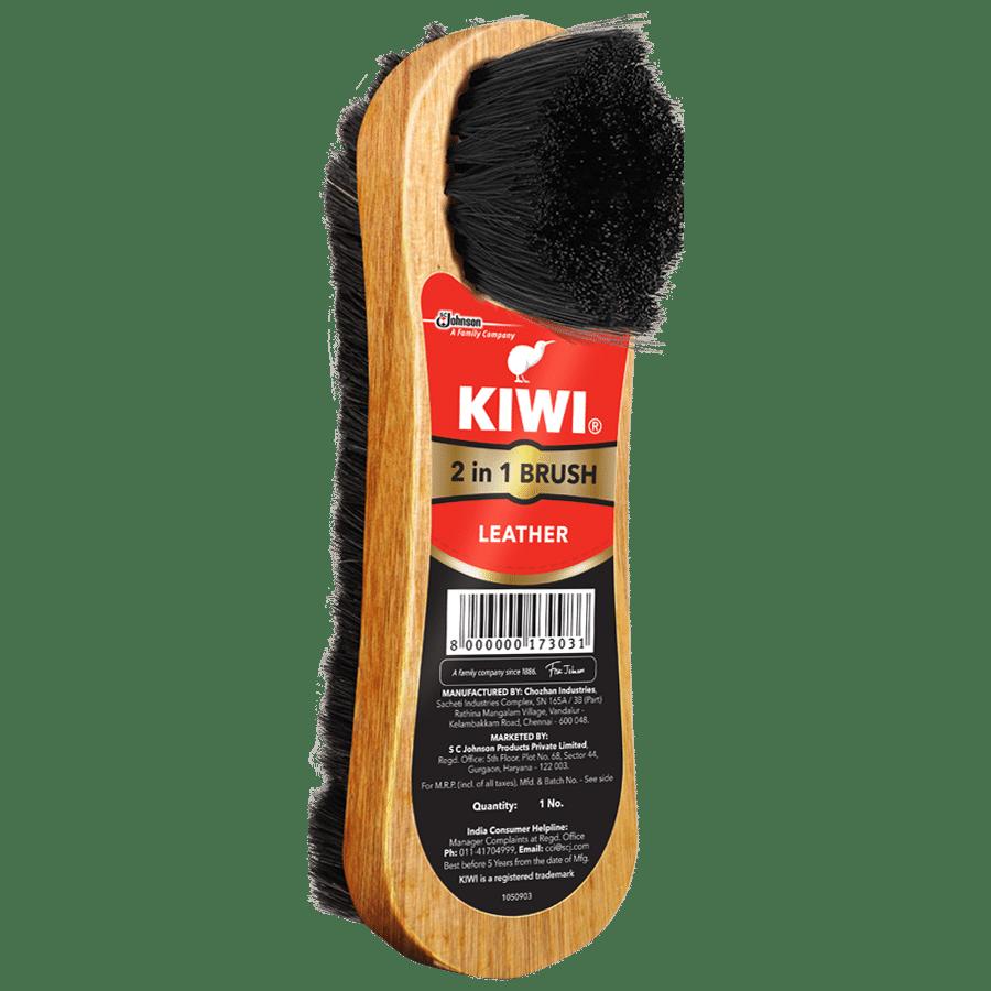 Kiwi 2 In 1 Shoe Brush, 1 pc
