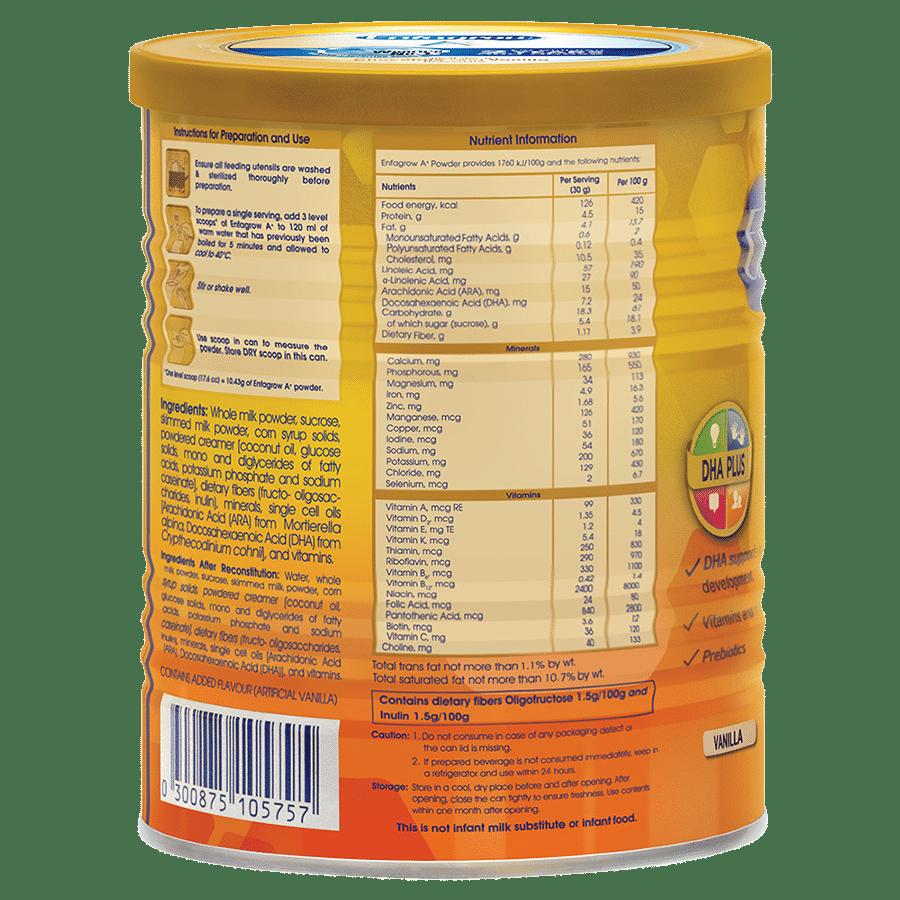 Enfagrow A+ Health Drink Nutritional Powder For Children - Vanilla, 400 g  Tin