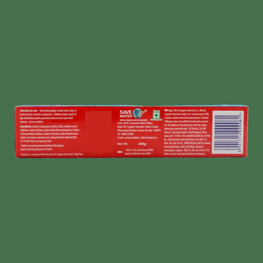 Colgate Toothpaste - Active Salt, 200 g