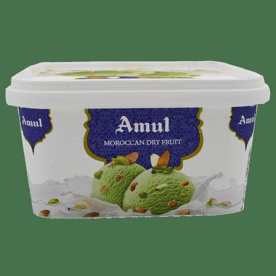 Amul Real Ice Cream - Moroccan Dry Fruit, 1 L Tub