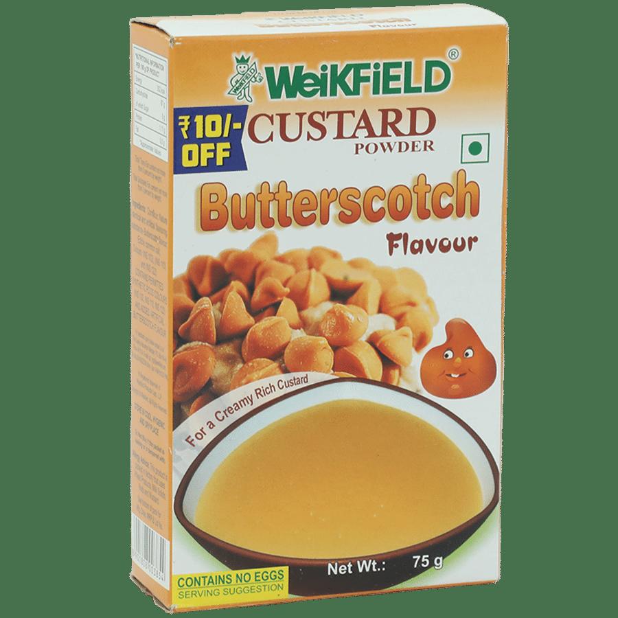 Weikfield Custard Powder - Butterscotch Flavor, 75 g Carton