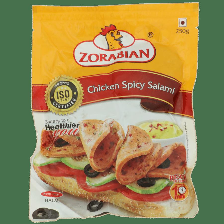 Zorabian Chicken - Spicy Salami, 250 g Pouch