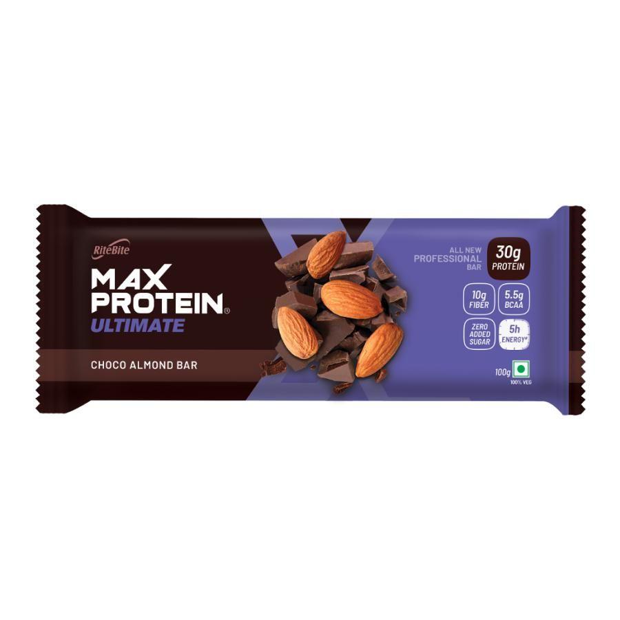 Buy Ritebite Max Protein Bar Professional Choco Almond 100 Gm Online At Best Price Bigbasket