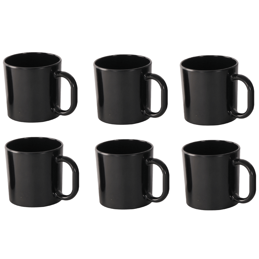 Mug Iveo 100Melamine Smart185 Of BlackSolid Ml Set 6 Coffee wkNP8nOX0