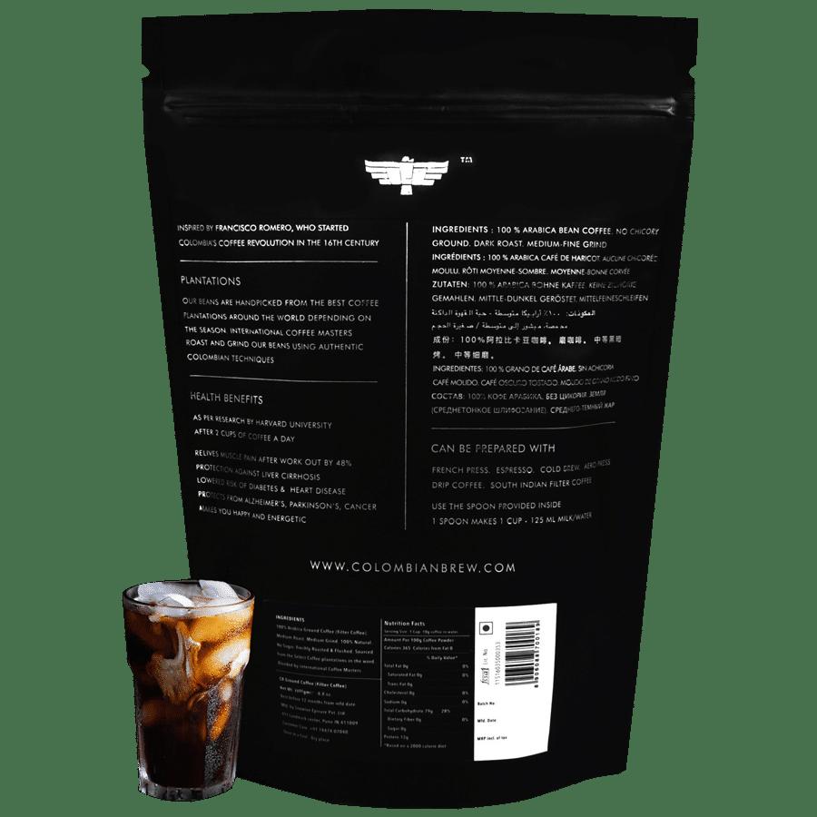 Colombian Brew Coffee 100% Arabica Espresso Coffee - Roast & Ground,  Strong, 1 kg