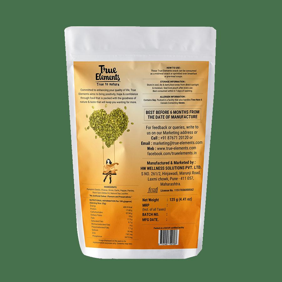 True Elements Seeds - Pumpkin, Roasted, Cheesy Onion, 125 g
