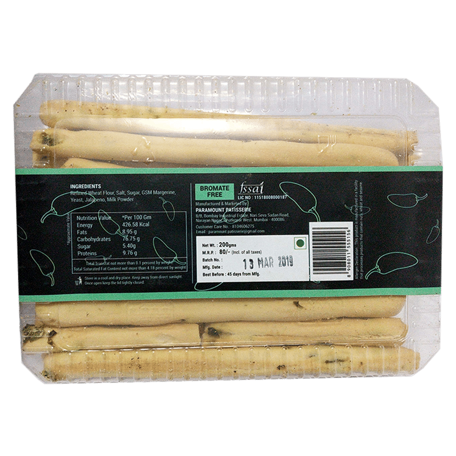 Al Forno Jalapeno Breadsticks, 200 g Tray