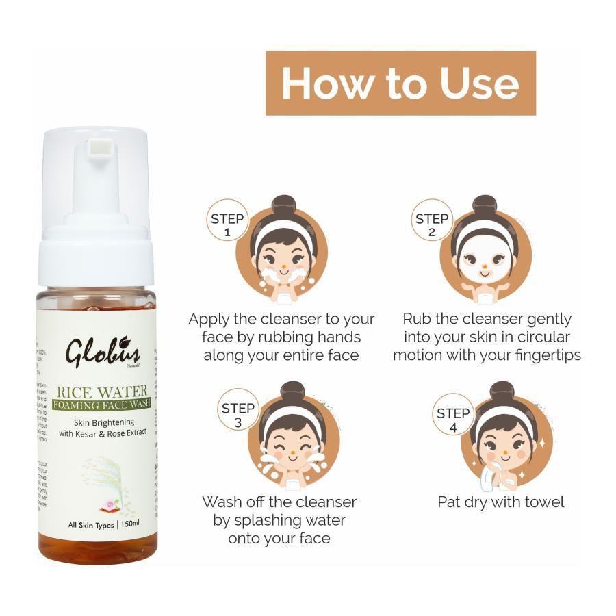 Buy Globus Naturals Skin Brightening Rice Water Foaming Face Wash Online At Best Price Bigbasket