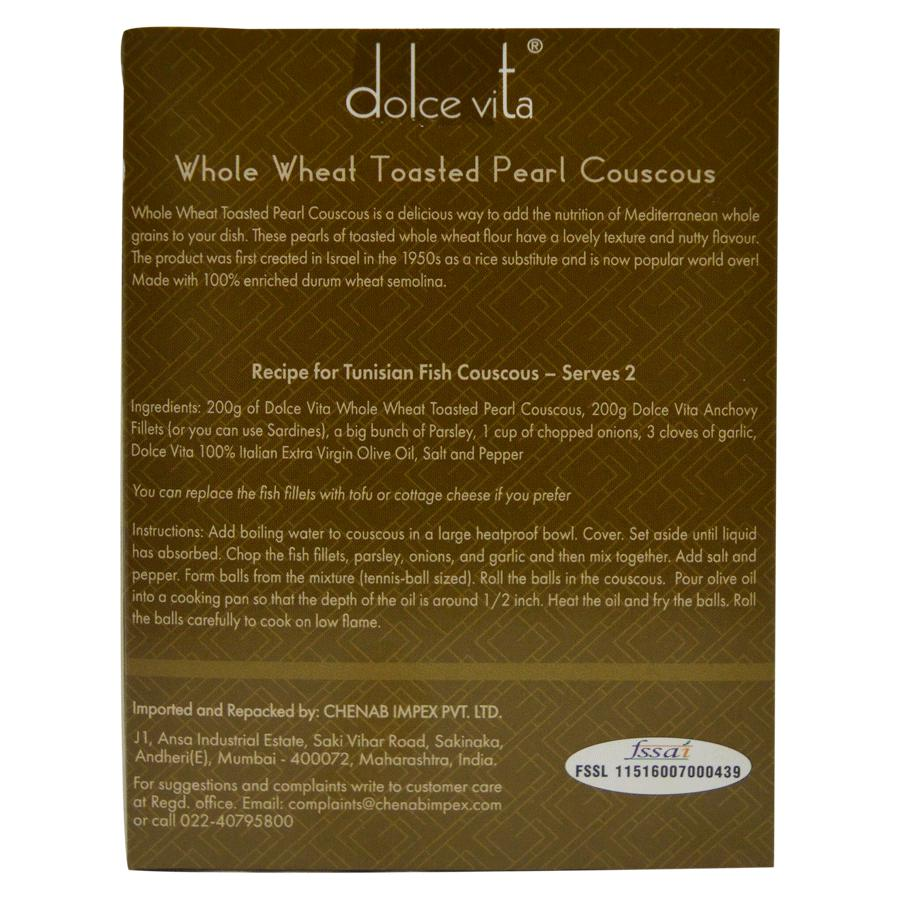 Buy Dolce Vita Whole Wheat Toasted Pearl Couscous Online At Best Price Bigbasket