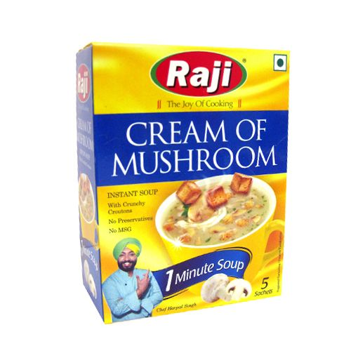 Raji Instant Soup - Cream Of Mushroom 75 gm Carton: Buy online at best ...