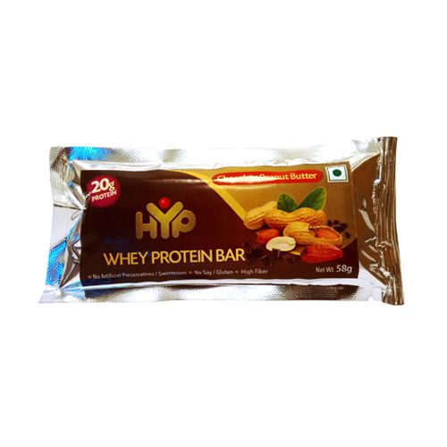 Hyp Protein Bar - Chocolate & Peanut Butter 65 gm: Buy online at best ...
