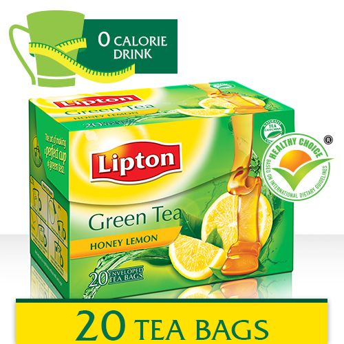 Lipton Green Tea - Honey Lemon 20 pcs Carton: Buy online ...