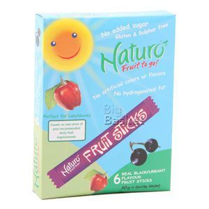 Naturo Blackcurrant Flavoured Fruit Sticks 90 gm