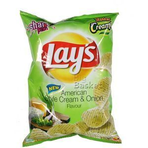 Lays Potato Chips - American Style Cream & Onion Flavour 56 gm