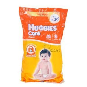 Huggies Care Diapers Medium 5-11 kgs 2 nos Pack of 6