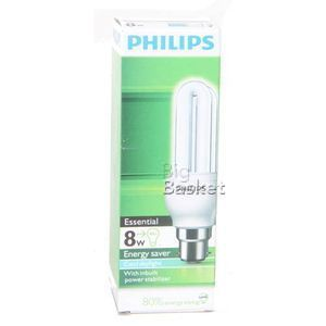 Philips Essential Energy Saver CFL Lamp - 8 watts 1 nos
