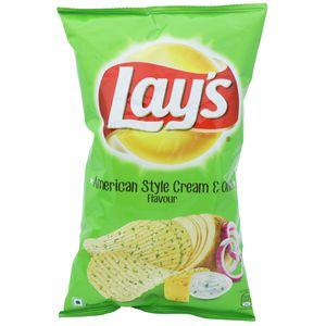 Lays Potato Chips - American Style Cream & Onion Flavour 96 gm