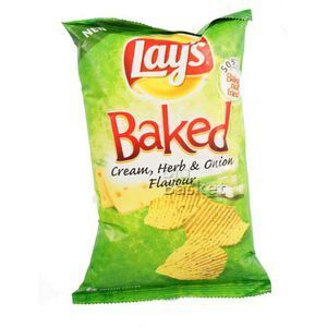 Lays Baked Cream, Herb & Onion Flavour 67 gm