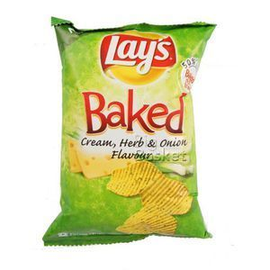 Lays Baked Cream, Herb & Onion Flavour 30 gm