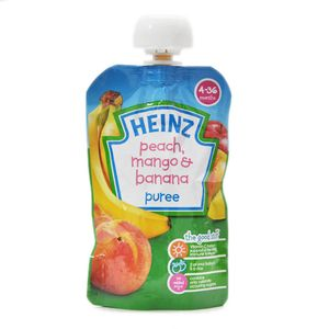 Heinz Puree - Peach, Mango & Banana (4-36 Months) 100 gm: Buy online ...