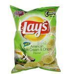 Lays American Style Cream & Onion Flavour Potato Chips 56 gm