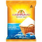 Aashirvaad Free Flowing Iodised Salt 1 kg